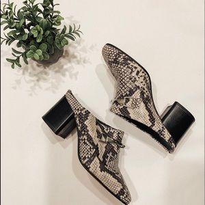 ASOS women's snakeskin mules Size 38